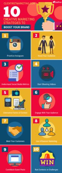 10 Creative Marketing Strategies Infographic