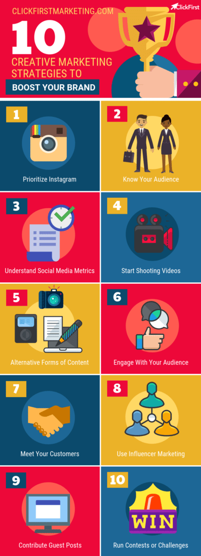 10 Creative Marketing Strategies Infographic