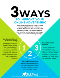 3 Ways to Improve Your Online Advertising Infographic