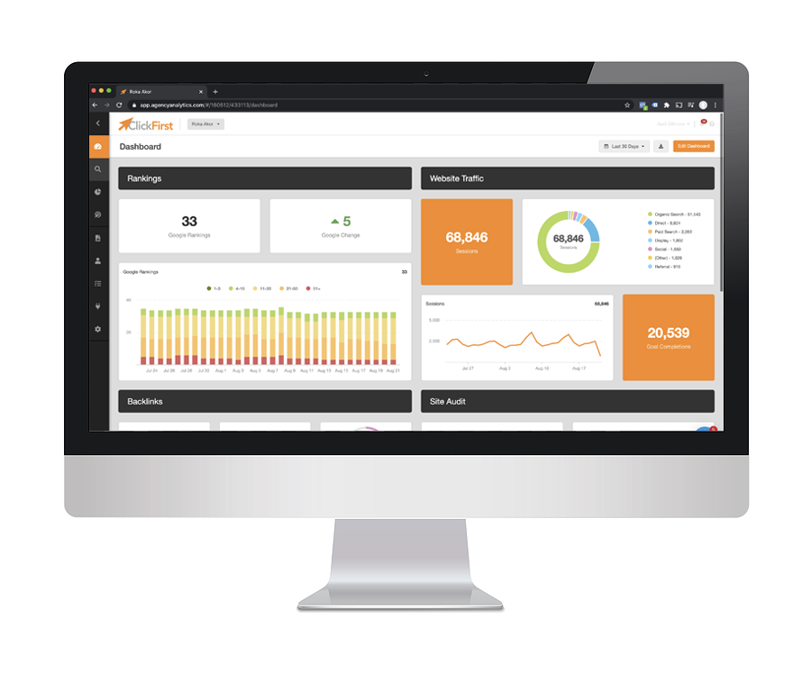 ClickFirst Agency Dashboard