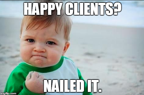 Happy Clients? Nailed it