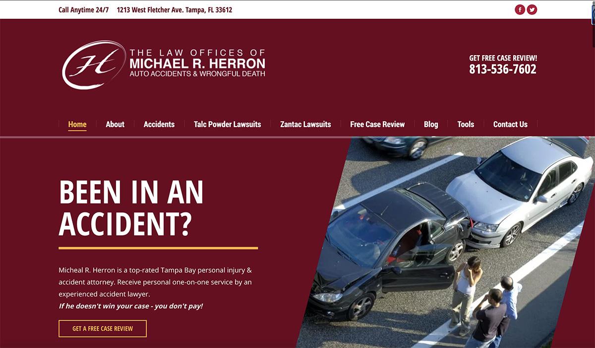 Personal Injury Attorney Website