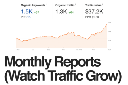 Watch Your Traffic Increase With Monthly Reports
