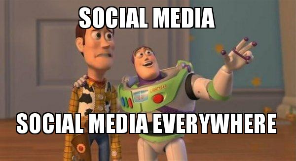 Social Media Everywhere Buzz Lightyear Meme