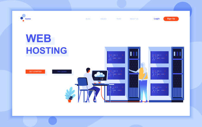 Website hosting concept