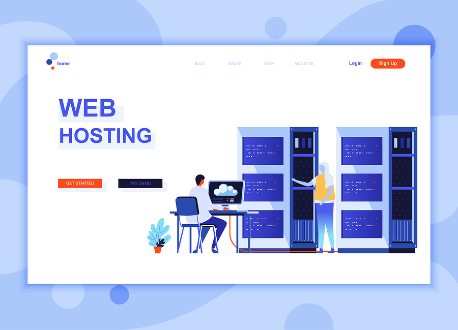 Website hosting concept