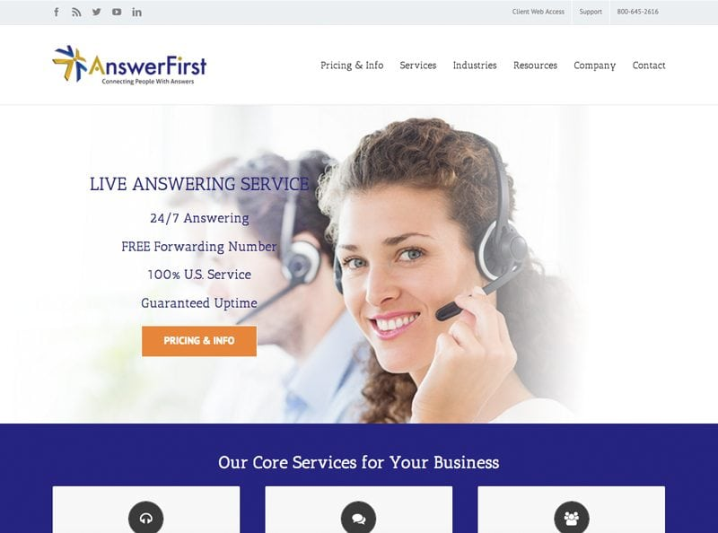 AnswerFirst Website Screenshot