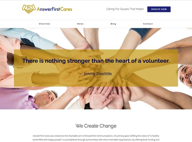 AnswerFirst Cares Website Screenshot