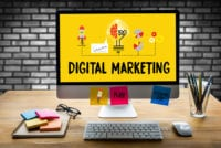 DIGITAL MARKETING new startup project DIGITAL MARKETING Interactive digital marketing channels Business innovation technology digital marketing People in a Seminar work DIGITAL MARKETING