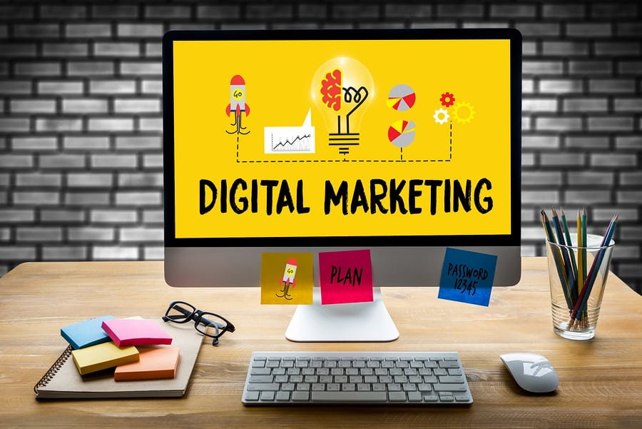 DIGITAL MARKETING new startup project DIGITAL MARKETING Interactive digital marketing channels Business innovation technology digital marketing People in a Seminar work DIGITAL MARKETING