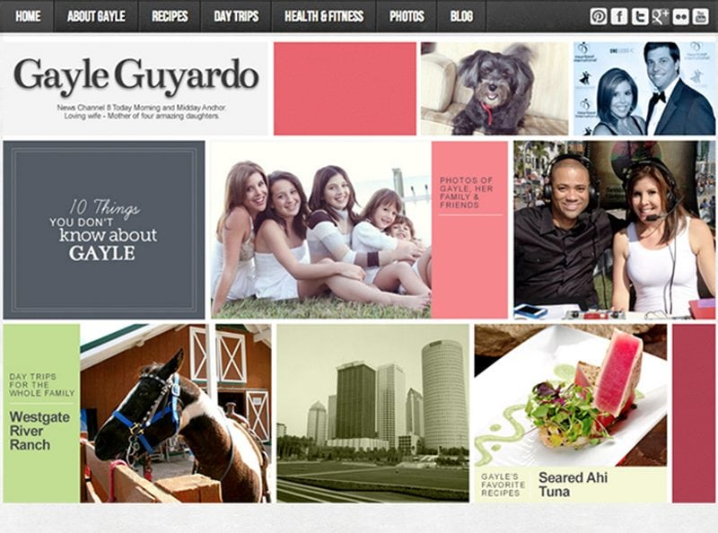 Gayle Guyardo Website Screenshot