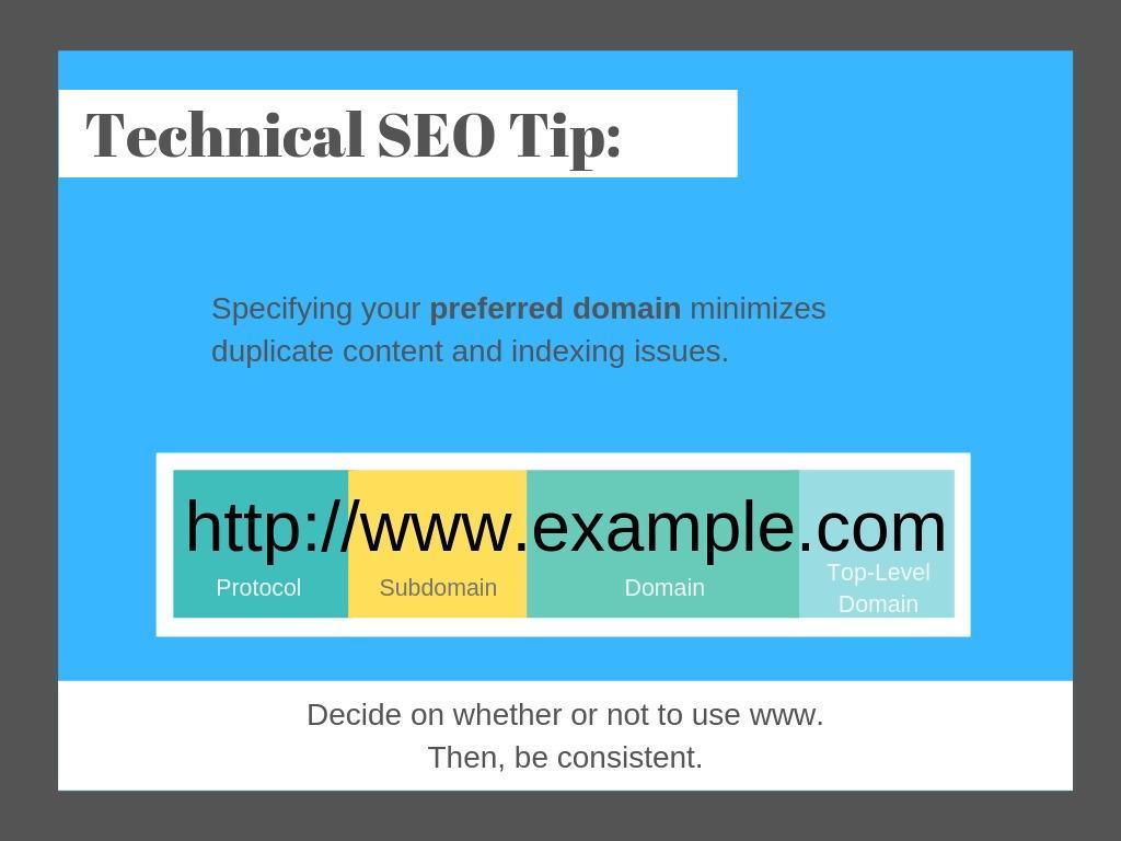 Specify your preferred domain