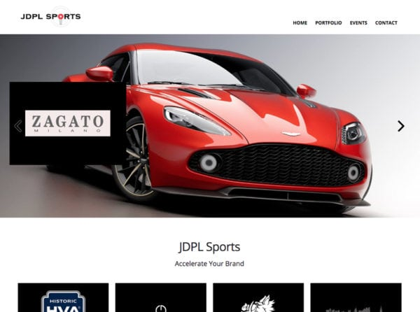 JDPL Sports Website Screenshot