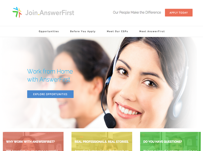 Join AnswerFirst Website Screenshot