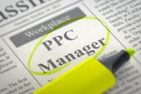 PPC Manager Employment Ad in Newspaper