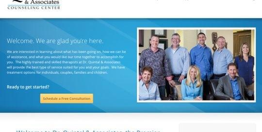 Dr. Quintal and Associates Counseling Center Website Screenshot