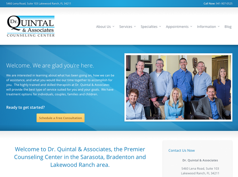 Dr. Quintal & Associates Website Screenshot