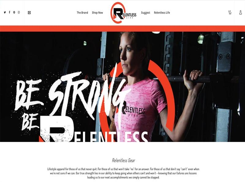 Screenshot of Relentless Website