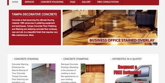 Stone Medic Decorative Concrete Website Design